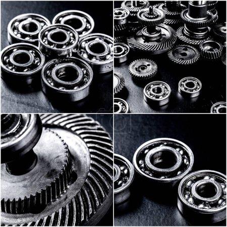 Set of few automotive parts collage
