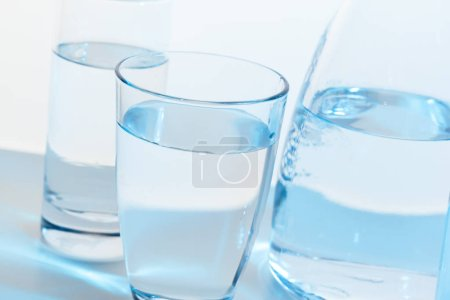 Photo for Water glass and jug - Royalty Free Image