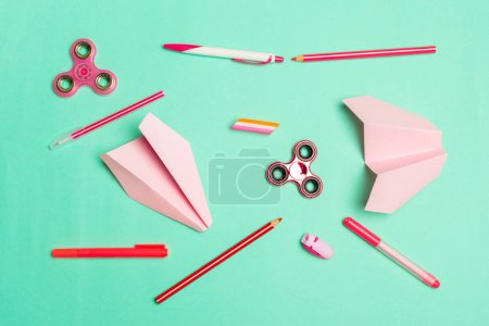 various stationery, school concept