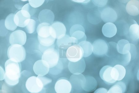 Bright abstract bokeh blue background