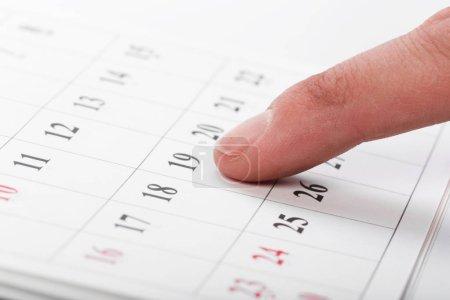 Photo pour Découvrez les dates dans un concept de calendrier d'affaires - image libre de droit