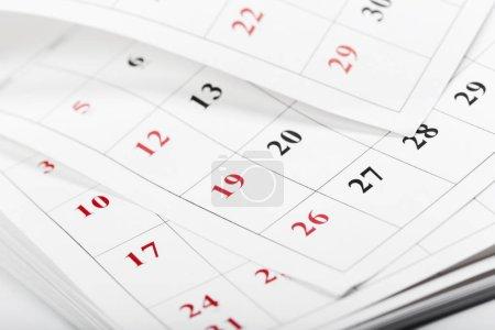 Photo pour Pages de calendrier bouchent le concept de temps commercial - image libre de droit