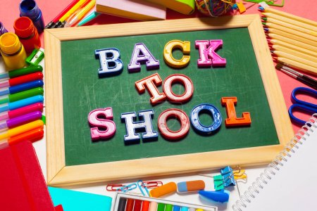 Photo for Welcome Back To School Banner; School Supplies - Royalty Free Image