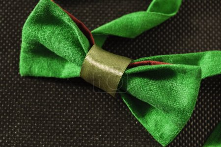 close up of  bow tie on dark background