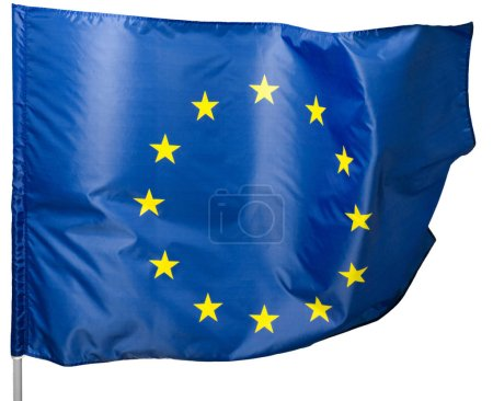 Photo for European Union Flag, Isolated on white background. - Royalty Free Image
