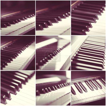 Photo pour Clavier de piano se bouchent. collage. - image libre de droit