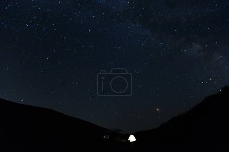 Photo for Stunning beautiful Night sky with stars background - Royalty Free Image
