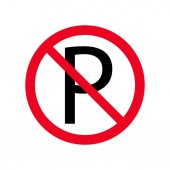 NO PARKING symbol vector flat icon Forbidden sign isolated on white backgroundillustration