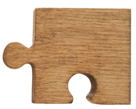 Photo for Puzzle standing against white background. - Royalty Free Image