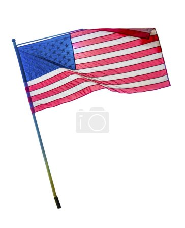 Photo for USA american flag isolated on white background - Royalty Free Image