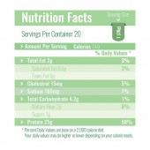 Nutrition Facts Label design template for food content Per Vector illustration