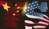 Yuan and Dollar Fight due Trade War, Vector Illustration
