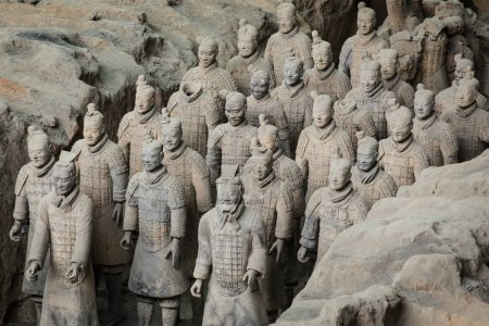 Lintong, Xi'an, Shaanxi/China, China's famous Terracotta Warriors. The Terracotta Army is the collection of sculptures depicting the armies of Qin Shi Huang, the first Emperor of China at his tomb.