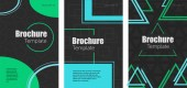 POSTER 08 Set of abstract brochures with geometric shapes