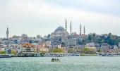 Istanbul, Turkey April 6 , 2019: Suleymaniye mosque The Sleymaniye Mosque is an Ottoman imperial mosque located on the Third Hill of Istanbul, Turkey.