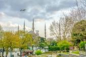 Istanbul Turkey  April 04, 2019: Suleymaniye mosque The Sleymaniye Mosque is an Ottoman imperial mosque located on the Third Hill of Istanbul, Turkey.