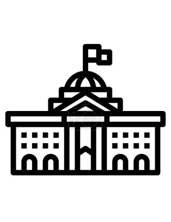 Goverment building icon,  vector illustration