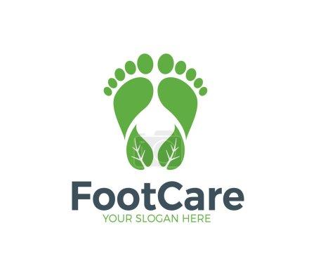 Illustration pour Modèle de logo de soins des pieds - image libre de droit
