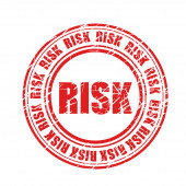 Risk watermark stamp red stamp