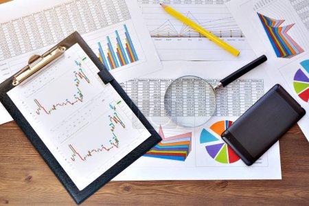 Economical stock market graph . business background