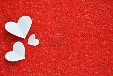 Photo for Romantic background of paper hearts. Love, St. Valentine's Day. - Royalty Free Image