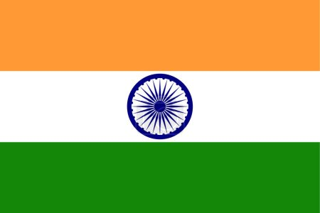 India flag. Official colors. Correct proportion. V...