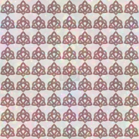 Valknut seamless pattern. Triquetra knot with hear...