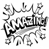 Amazing word comic book coloring vector