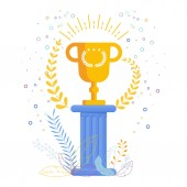 Gold Cup winner on an antique pedestal Award to the best