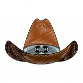 Cowboy hat isolated scribble