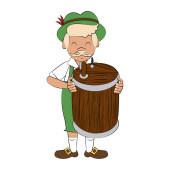 Bavarian man cartoon