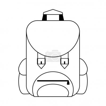 Backpack cartoon isolated symbol vector illustrati...