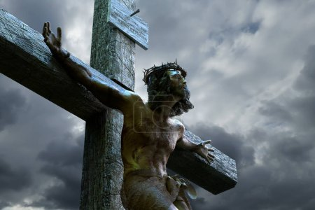 Photo for Jesus Christ on the cross, 3d render - Royalty Free Image