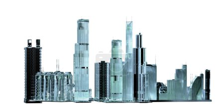 a layout of the city of the future 3d render