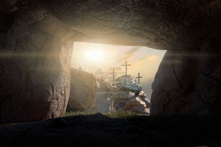 Photo for Empty Tomb of Jesus Christ 3d render - Royalty Free Image