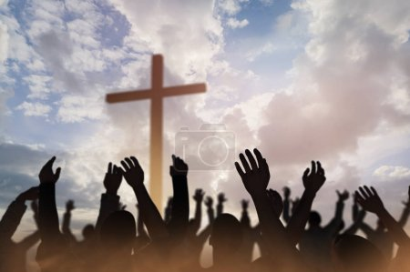 Photo for Christmas concept worship and praise God 3D render - Royalty Free Image