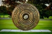SCOTLAND, GLENEAGLES - OCTOBER 03, 2016: Bronze statue commemorate 2014 Ryder Cup golf tournament at Gleneagles in Pershire, Scotland