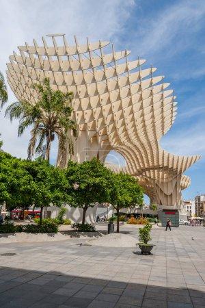 SEVILLE, SPAIN - MAY 24, 2012: Metropol Parasol Parasol building in Seville, Spain