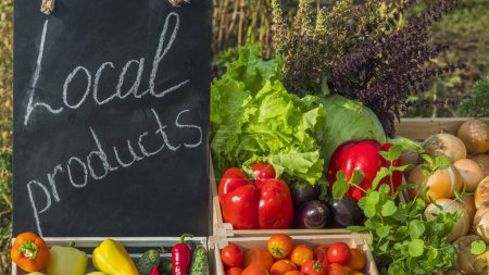 Photo for Sale of fresh vegetables at the farmers market. - Royalty Free Image
