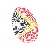 Fingerprint vector colored with the national flag of East Timor