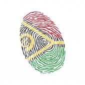 Fingerprint vector colored with the national flag of Vanuatu