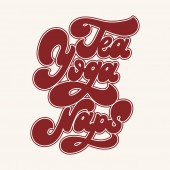 Tea yoga naps Vector hand drawn lettering isolated