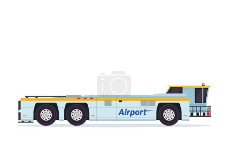 Modern Airport Tank Truck Refueler Ground Support Vehicle Equipment Illustration