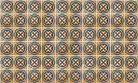 Photo for Seamless Portugal or Spain Azulejo Tile Background. High Resolution. - Royalty Free Image