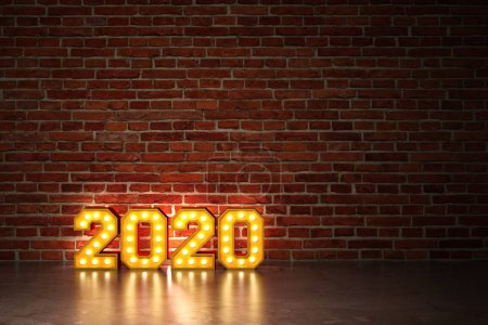Photo for New Year 2020 Creative Design Concept - 3D Rendered Image - Royalty Free Image