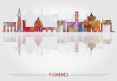 Florence City background with cityscape silhouette