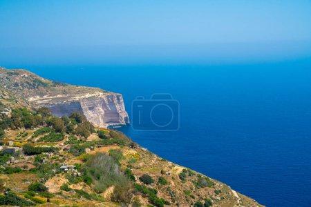 White cliffs on the island of Malta