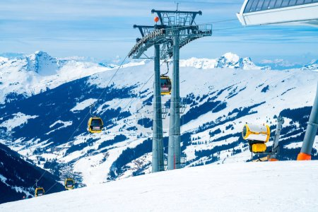 Ski lefts and cable cars