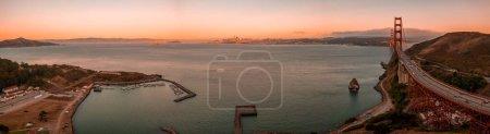 Photo pour Belle vue aérienne du pont Golden Gate à San Francisco, Californie. - image libre de droit