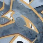 Fragment of colored street art graffiti paintings ...